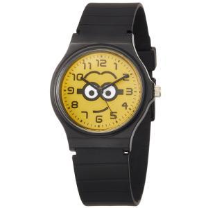 ミニオンズ アナログ ウレタンベルト ブラック×イエロー DES001-2 フィールドワーク 腕時計 USJ メール便250円対応|shien