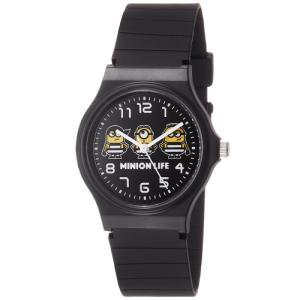 ミニオンズ アナログ ウレタンベルト ブラック×ブラック DES001-3 フィールドワーク 腕時計 USJ ネコポス300円可|shien