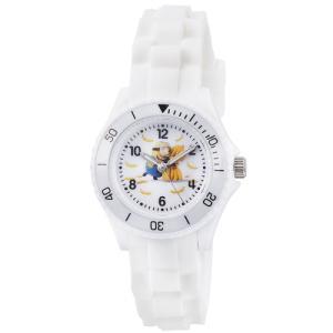 ミニオンズ アナログ シリコンラバーベルト ホワイト DES002-1 フィールドワーク 腕時計 USJ ネコポス300円可|shien