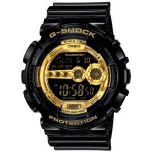 カシオ G-SHOCK 腕時計 Black×Gold Series 国内モデル メンズウォッチ GD-100GB-1JF|shien