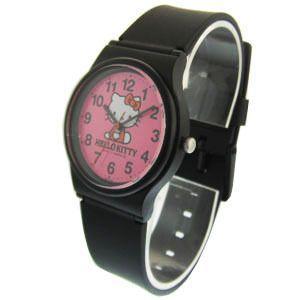 ハローキティ 腕時計 キッズ ブラック×ピンク 日本販売限定モデル メール便250円対応|shien