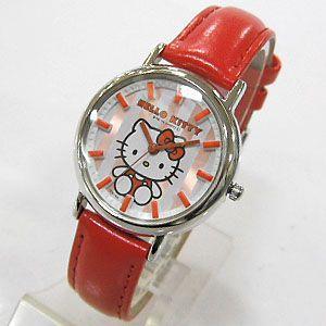 ハローキティ 子供用腕時計 レッド Q731-631 日本販売限定モデル HELLO KITTY キャラクターウォッチ Q731-631 メール便250円対応|shien