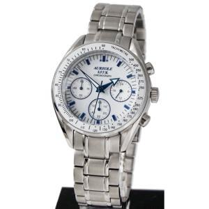 オレオール 男性用腕時計 クォーツ メンズ 10気圧防水クロノグラフ SW-582M-3 文字盤ホワイト AUREOLE|shien