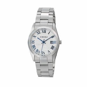 オレオール 腕時計 メタルバンドウォッチ 富士山文字盤 メンズウォッチ SW-591M-D AUREOLE オールステンレス 男性用|shien