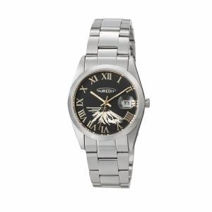 オレオール 腕時計 メタルバンドウォッチ 富士山文字盤 メンズウォッチ SW-591M-E AUREOLE オールステンレス 男性用|shien