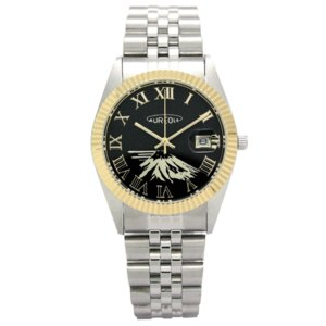 オレオール 腕時計 メタルバンドウォッチ 富士山文字盤 メンズウォッチ SW-592M-A AUREOLE オールステンレス 男性用|shien