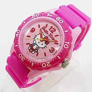 ハローキティ 腕時計 キッズ ウレタンピンク 10気圧防水 日本販売限定モデル シチズン Q&Q サンリオ メール便250円対応|shien