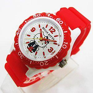 ハローキティ 腕時計 キッズ ウレタン レッド 日本販売限定モデル メール便250円対応|shien