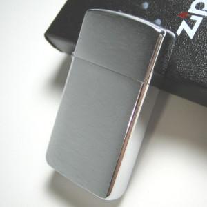 ZIPPO ジッポー クロームブラッシュフィニッシュ サテン スリム メール便250円対応|shien