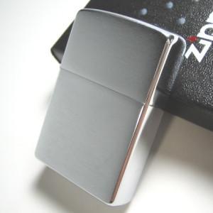 ジッポ ZIPPO ジッポー クロームブラッシュフィニッシュ サテン つや消し メール便250円対応|shien