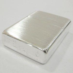 ジッポ ジッポーライター zippo アーマー スターリングシルバー 純銀製 サテン つや消し ZP-27 サテーナ仕上げ 喫煙具|shien