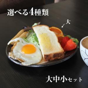 信楽焼 皿 3枚 セット パスタ皿 大皿 トースト皿 おしゃれ かわいい 小皿 中皿 セット ギフト 陶器 焼き物 取り皿  ct-0022 shigaraki