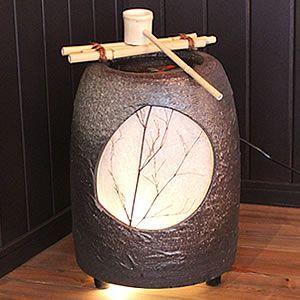 信楽焼 瑞光 つくばい 陽炎 水音 電動ツクバイ 循環式 陶器 蹲 ...