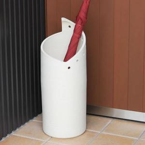 信楽焼 陶器傘立て かさたて やきもの傘立て かさたて陶器 傘入れ 陶器かさたて 壷 白モダン傘立て...
