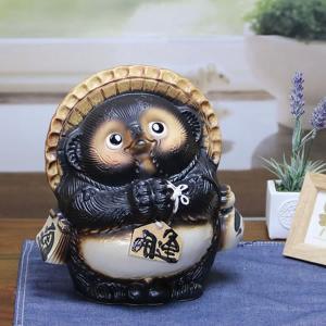 信楽焼 たぬき 陶器タヌキ たぬき置物  狸 信楽 陶器 タヌキ陶器狸 9号お願い狸  ta-0004|shigaraki
