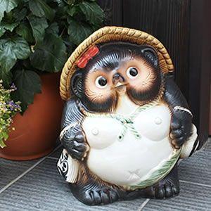 信楽焼 11号メスタヌキ  メスたぬき  タヌキ 陶器たぬき めす狸 たぬき置物  狸 文字入れ 名前入れ|shigaraki