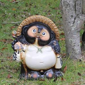 信楽焼 たぬき  13号開運タヌキ 陶器タヌキ たぬき置物  狸 信楽 たぬき陶器 名入れ 文字入れ  ta-0038 shigaraki