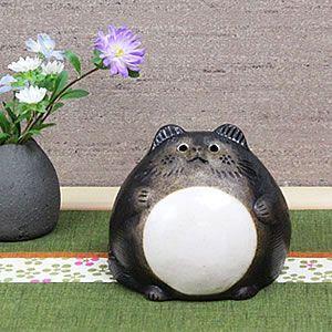 信楽焼 まんまるタヌキ 小 福を呼ぶ縁起物たぬき  タヌキ 陶器たぬき 狸 置物 狸 たぬき 狸|shigaraki