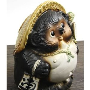 信楽焼 6号福々タヌキ  福を呼ぶ縁起物 たぬき タヌキ 陶器 狸 開運 厄除け 商売繁盛 たぬき置物  狸 ta-0068|shigaraki|04