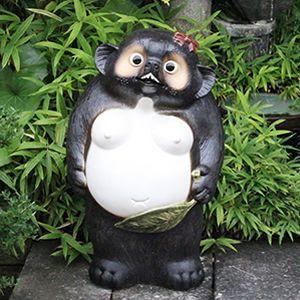 信楽焼 25号メスタヌキ  福を呼ぶ縁起物 たぬき タヌキ 陶器 めす狸 置物 狸 たぬき 名前入れ 文字入れ|shigaraki