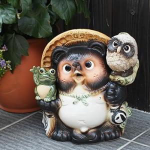 信楽焼 9号満願成就  たぬき 福を呼ぶ縁起物 タヌキ 陶器たぬき 狸 たぬき置物  狸 陶器 タヌキ shigaraki