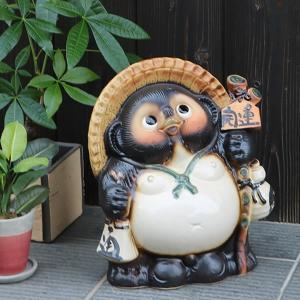 信楽焼 11号開運狸  たぬき 縁起物 陶器 たぬき置物  狸  ta-0218 shigaraki