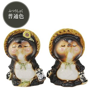 信楽焼 キス狸ペア  たぬき 縁起物 陶器 たぬき置物  狸  ta-0220|shigaraki|02