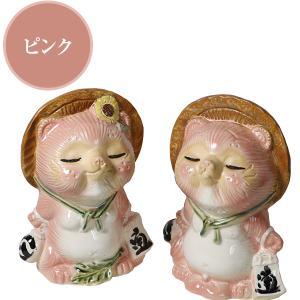 信楽焼 キス狸ペア  たぬき 縁起物 陶器 たぬき置物  狸  ta-0220|shigaraki|03
