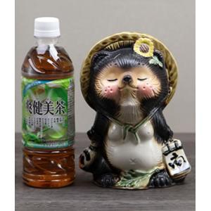 信楽焼 キス狸ペア  たぬき 縁起物 陶器 たぬき置物  狸  ta-0220|shigaraki|05