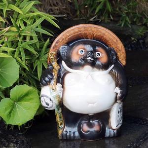 信楽焼 たぬき 14号福ひねりタヌキ 陶器タヌキ たぬき置物 狸 信楽 たぬき陶器 やきもの しがらき 信楽 陶器狸 ta-0323|shigaraki