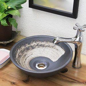 信楽焼 洗面ボウル おしゃれ 洗面ボール 陶器 和風 手水鉢 トイレ 手洗器 手洗い鉢 洗面台 tr-1152 shigaraki