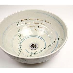 信楽焼 洗面ボウル 和風 洗面ボール 洗面シンク 洗面鉢 手洗器 手洗い鉢 陶器 洗面 洗面台  鉢 tr-3065 shigaraki 03