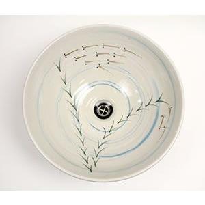 信楽焼 洗面ボウル 和風 洗面ボール 洗面シンク 洗面鉢 手洗器 手洗い鉢 陶器 洗面 洗面台  鉢 tr-3065 shigaraki 05