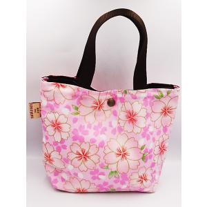 和雑貨 かわいい ミニボタントート バッグ 桜 さくら ピンク ランチバッグ レディース 日本製|shigemori