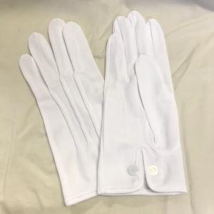 スムス 礼装用ナイロン手袋 ナイロンダブル紳士用ホック付き巻べり 1双