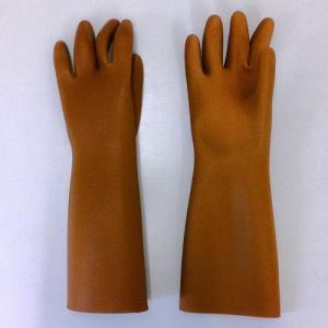【特徴】 ・全長約40cm、厚さ約1mm、極厚の天然ゴム製ロング手袋です。 ・水産業・食品加工業・清...