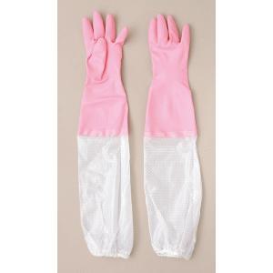 腕カバー付 厚手 Mサイズ ピンク:ショーワ 1040468 140|shigotogear