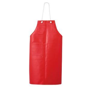 エプロン 胸当前掛レザー 赤:サンペックス 0820223 A182|shigotogear