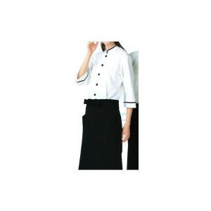 ショップコート オフホワイト×ブラック サンペックス |shigotogear