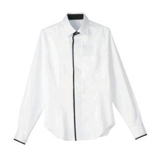 男女兼用長袖シャツ 白:サンペックス 0820899 HT5854|shigotogear