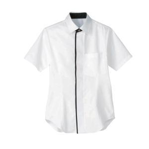 男女兼用半袖シャツ 白:サンペックス 0820901 HT5856|shigotogear