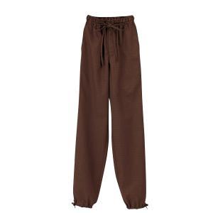 男女兼用作務衣パンツ 焦茶:サンペックス 0821337 JB2022|shigotogear
