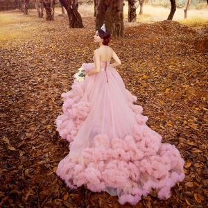 高級花嫁 ウェディングドレス 欧米風ウエディングドレス 結婚式ドレス プリンセスライン ロングドレス 舞台衣装 イブニングドレス 披露宴 姫系ドレス |shihan