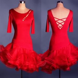 社交ダンスドレス ラテンドレス モダンドレス 競技 デモ ダンス衣装 ワンピース オーダーメード|shihan