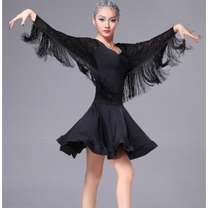 社交ダンスドレス  ラテンドレス モダンドレス  ダンスウエア+スカート 競技 デモ ダンス衣装 ワンピース|shihan