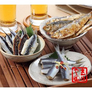 ままかりの詰合せ(酢漬け、炭火焼ままかり、みりん干し)|shihoya