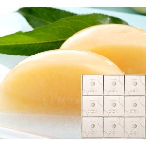 清水白桃半割り果実ゼリー(9個入)木箱入|shihoya