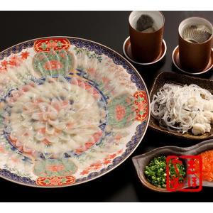とらふぐ刺身セット(33cm絵皿)4人前|shihoya