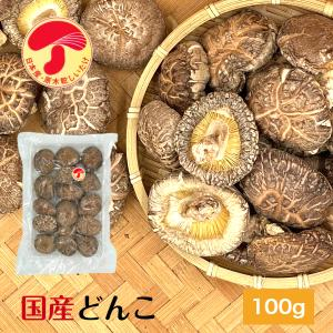 干ししいたけ 国産(九州・四国産) どんこ100g 送料無料 原木栽培 (干し椎茸 干しシイタケ)