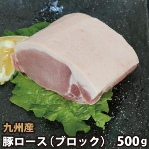 九州産 豚ロースブロック 500g 豚肉 国産 国内産|shikatameat